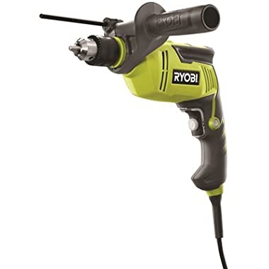 Ryobi D620H 5/8  6.2 Amp 2,700 RPM Heavy Duty Variable Speed Reversible Hammer Drill w/ Depth Stop Rod and Chuck Key Storage