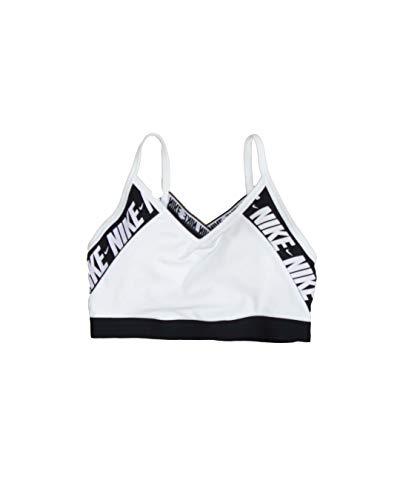NIKE Indy Logo Bra Sujetador de Deporte, Mujer, White/Black/(White), XS
