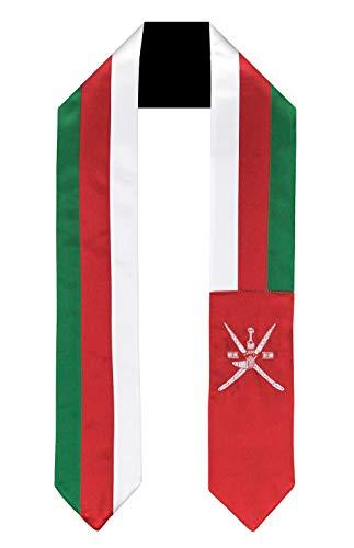 Oman Flag Graduation Sash/Stole International Study Abroad Adult Unisex