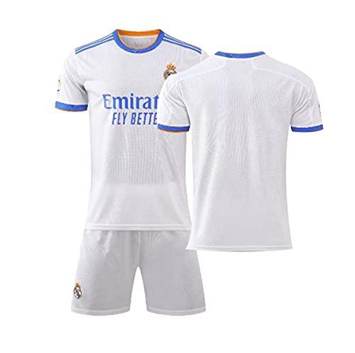 YAWIGS Adulto/niño Camiseta De Fútbol, 21-22 Real Madrid en casa Jersey de...
