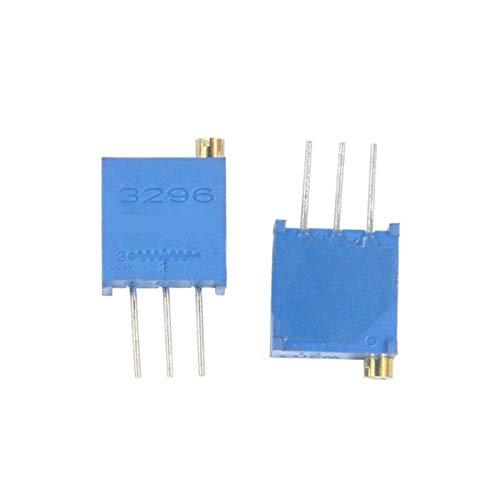 SHAXX LXBOO-S 10pcs 3296W 1k 2k 5k 10k 20k 50k 100k 200k 500k 1M 1ohm Trim Pot Trimmer Potentiometer Type (Color : 100 Ohm)
