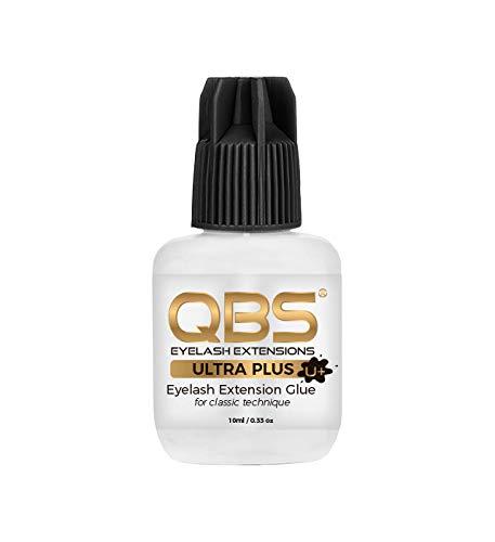 qbs EXTENSION DE CILS COLLE ULTRA PLUS - adhésif fort pour semi permanent Extensions de cils - Noir, 3 g