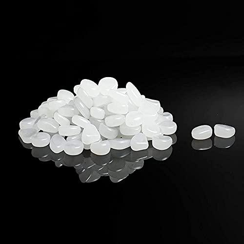 COPSD 300 Piezas de Piedras Luminosas, Piedras Luminosas de jardín, Que Brillan en la Oscuridad, Piedras Fluorescentes para pasarelas...