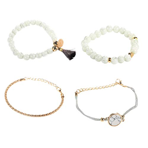 Mypace Silber Gold 925 Armreif Für Damen Herren Herz der Liebe Marmor Charm Armbänder für Frauen Böhmen Quaste Armband Schmuck
