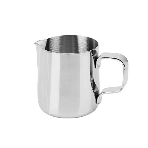 CuiGuoPing - Cafetera de acero inoxidable, jarra de espuma de leche, 150...