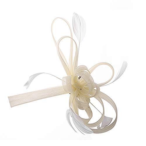 Fascinator Hut Damen Mädchen Haarschmuck Haar Clip Mesh Blumen Haarspange mit Federn Vintage Kopfschmuck Schleier Braut Haar Accessoire Frauen Headwear Kopfbedeckung für Tea Party Hochzeit Kirche