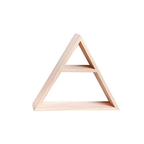 Kentop Regal zum Dekorieren, dreieckig, Holz, Wandregale, Aufbewahrung, Dekoration für Schlafzimmer (Stil 1)