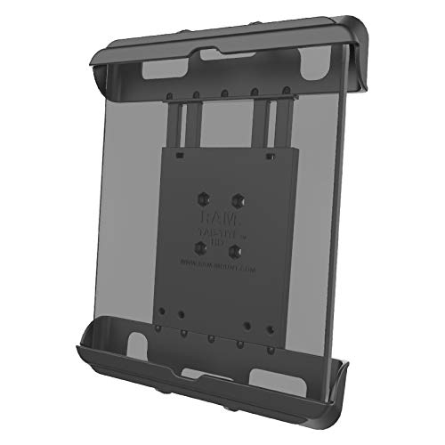 """RAM Mounts RAM-HOL-TAB17U Tab-Tite Tablet Holder for Apple iPad Gen 1-4 with Case + More Compatible with RAM B 1"""" and C 1.5"""" Size Round Ball Bases"""