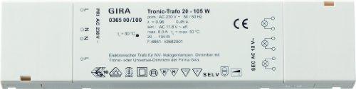 Gira 036500 Tronic 20 105 W flach Elektronik, weiß Trafo