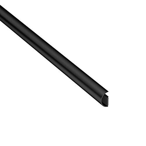 D-Line Micro+ CableTraC Kabelabdeckung, Schwarz, Kabelkanal 1MCT2010B Micro+ (20x10mm)