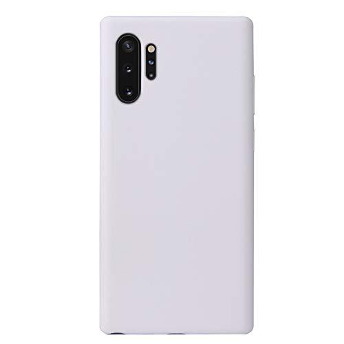 Botongda Coque Samsung Galaxy Note 10 Plus/Note10+ 5G,Étui en Silicone Souple,Coque Doux au Toucher avec Garniture intérieure en Microfibre pour Samsung Galaxy Note 10 Plus/Note10+ 5G-Blanc