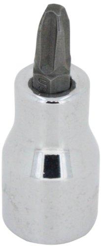 SK Hand Tool 45483 Number- 3 Phillips Bit Socket, Drive Screwdriver, 3/8-Inch, Chrome