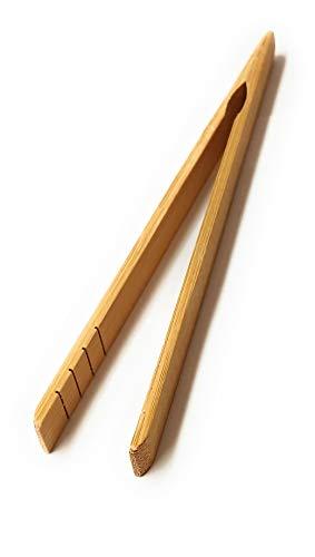 Maitre chef Pince a Toast Bambou 17 cm - Pain grillé - Idéal pour Le Petit déjeuner