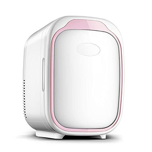 Mini Refrigerador Y Calentador De Refrigerador, Capacidad De 6 L, Compacto, Portátil Y Silencioso, Compatibilidad Con Alimentación De CA + CC,Rosado