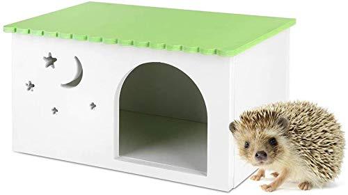 Casetta in Legno per Animali Domestici in plastica, Colore Verde Cavie Conigli Nido Casa Animali Riccio Box Gabbia Cabina Verde