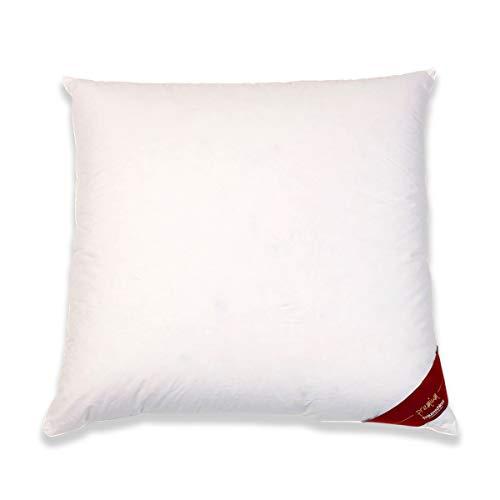Traumschloss Daunen Kopfkissen Premium | 90% Neue canadische Daunen und 10% Federn | Bezug aus 100% Mako-Baumwolle | 80 x 80 cm