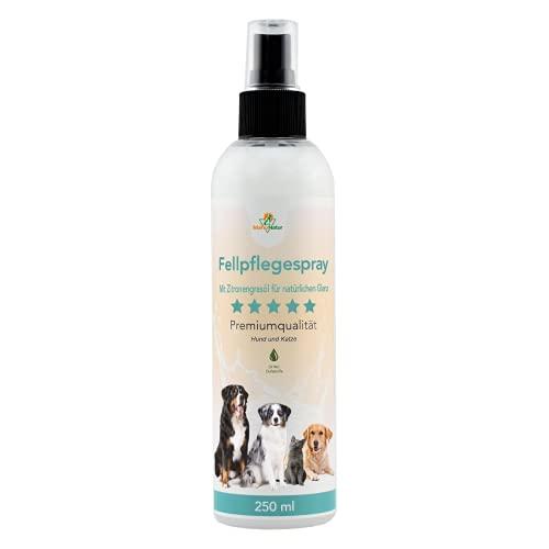 Mahu Natur 250 ml Fellpflegespray für Hunde & Katzen - Pflegt die Haut bei Juckreiz, Verknotungen und Verfilzung - Für einen seidigen Glanz