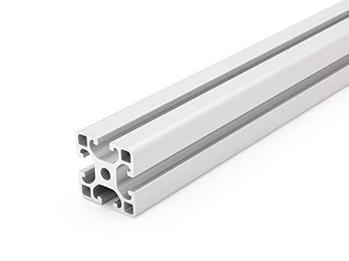Perfil de aluminio 40 x 40 L tipo I ranura 8 – corte 50 mm – 2000 mm (12,50 EUR/m + 0,25 euros por corte, mín. 2,50 EUR), 80mm, 1