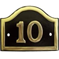 Arched Brass House Number 10