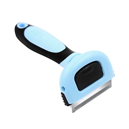 UEETEK Pet Pettine Grooming Tool Pet Rimuovi Pellicce e Pelucchi per Cane Taglia S (Blu)