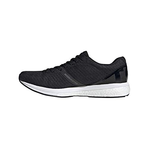 adidas Men's Adizero Boston 8 Running Shoe, Black/White/Grey, 12 M US 4