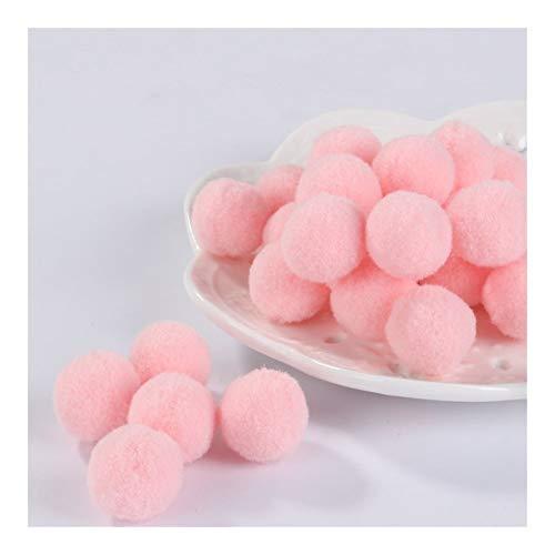 JIAHUI Pompones suaves pompones de felpa esponjosa para manualidades con pompón, bola para decoración del hogar, suministros de costura (color rosa sangre, tamaño: 15 mm, 10 g, 60 unidades)