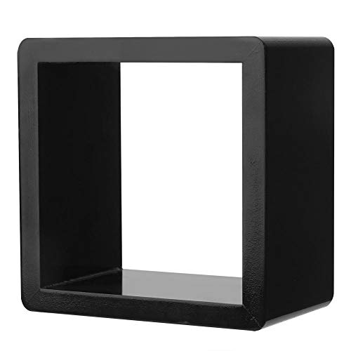 Wifehelper wandgemonteerde opslag plank kubus set DIY modulaire drijvende opknoping organisator rack houder organisator eenheid rekken plank wit zwart hout