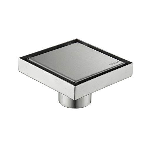 MOODSC 304 Edelstahl 10 x 10 cm Deodorant Invisible Bodenablauf auf Fliesen ohne Rost Bodenablauf einfach platziert werden kann