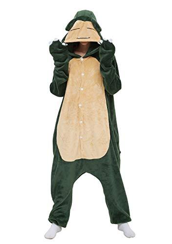 Jumpsuit Tier Pyjama Snorlax Onesie Fasching Halloween Kostüm Schlafanzug Cosplay Pyjama Erwachsene Damen Karneval Einteiler 02 XL