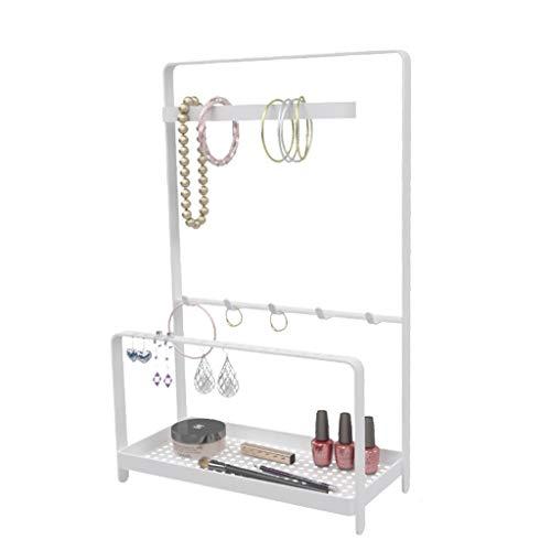 Organizador de joyas Joyería Organizador del soporte de exhibición, exhibición del collar del soporte de la bandeja con el anillo pulseras de los collares, pendientes, anillos, relojes Organizador de