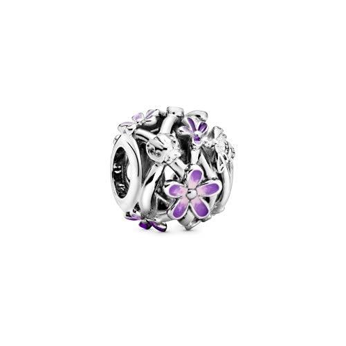La Menars Abalorio colgante de copo de nieve con estrellas para pulseras Pandora de plata 925 para pulseras y collares de mujer para San Valentín, día de la madre, cumpleaños