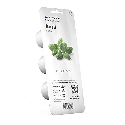 Click & Grow recharges pour jardinière Smart Herb Garden Basilic Pack de 3
