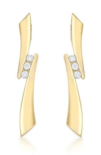 Carissima Gold Pendientes de mujer con oro amarillo de 9 K (375/1000), diamante