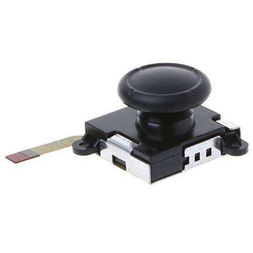 LSWL 3D Joystick analógico mandos for los Pulgares Sensor reemplazos for Nintendo Cambiar la alegría Controlador de con (Color : Black)