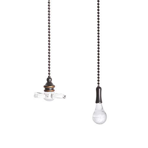 Opplei, trekketting voor plafondventilatoren, druppelvormige en waaiervormige hanger, fan pullsset met aansluiting, trekketting voor plafondventilatoren, versiering voor verlichtingsaccessoires