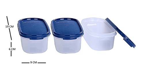 Signoraware Modular Oval No.1 Container Set, 500ml, Set of 3, Mod Blue