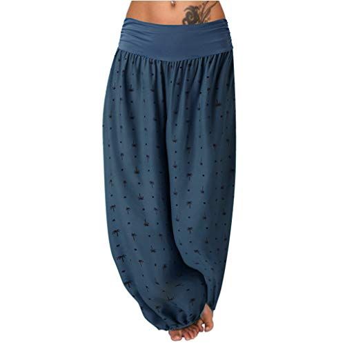 Fannyfuny_Leggings Pantalones Mujer Pantalones Deportivos Pantalones Yoga Mujer Fluidos Pierna Ancha Pantalones Cintura Alta Leggings Yoga Tallas Grantes para Running Gimnasio Fitness