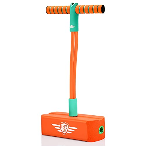 CUUGO LET'S GO! CG Pogo Stick Gifts for 3-12 Year Old Boys Girls, Foam Pogo Jumper for Kids Toys for 3-12 Year Old Boys Toys Age 3-10 Outdoor Toys Age 3-12 Kids Toys Birthday Gifts, Orange