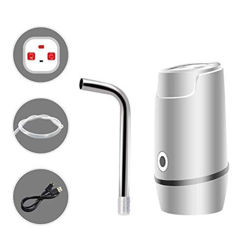 FGHCHMY USB wiederaufladbares Mineralwasser elektrische Wasserpumpe Saugwasserdruck Wasserspender Wasserspender Mineralwasserspender (weiß)