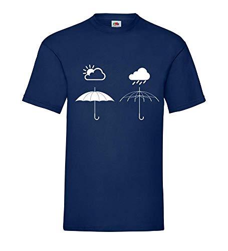 Schirmwetter Männer T-Shirt Navy 3XL - shirt84.de
