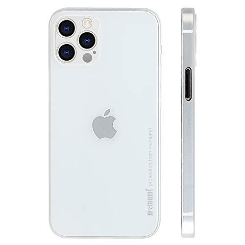 memumi Case para iPhone 12 Pro MAX Ultrafina 0.3 mm Revestimiento Mate Protector Carcasa para iPhone 12 Pro MAX 2020 Funda Slim con Anti-arañazos y Sin Huella Digital 6.7pulgadas Blanco Translúcido