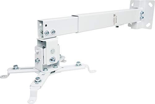SCHWAIGER -9468- Beamer-Deckenhalterung/Projektor Wand-Halterung/universal-Halterung für Video-Projektor/drehbar und schwenkbar/hohe mechanische Belastbarkeit/max. Trag-Kraft von 20 kg