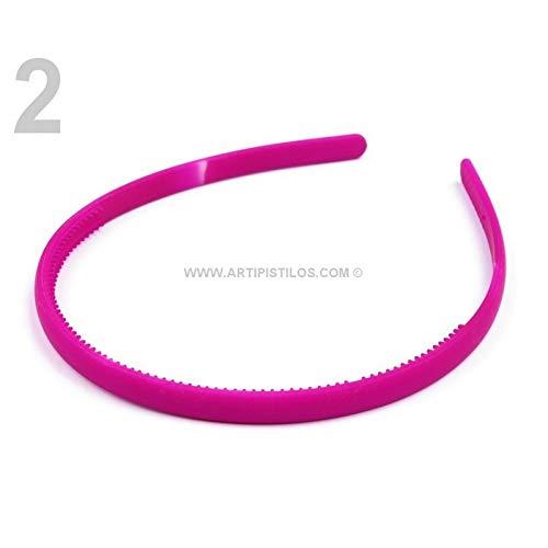 Artipistilos® Neon hoofdband - 8 mm, paars - haarband van plastic