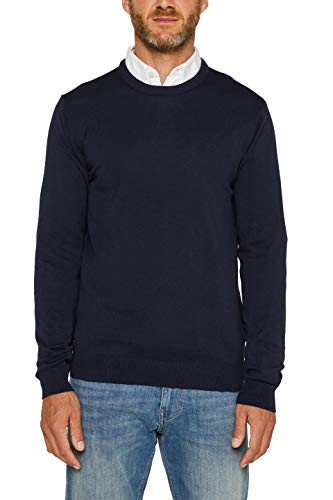 ESPRIT Herren 996EE2I900 Pullover, Navy (400), 01/19, L