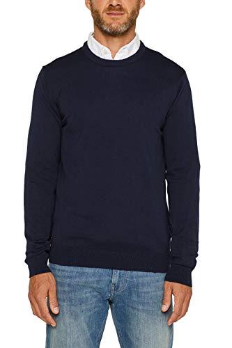 ESPRIT Herren 999Ee2I803 Pullover, Blau (Navy 400), Large (Herstellergröße: L)