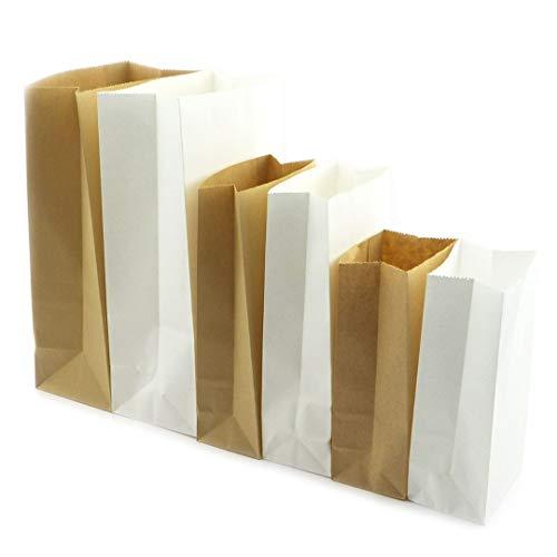 Sacchetti di carta sacchetti regalo sacchetti di carta sacchetti regalo confezione regalo sacchetti di carta DIY (50x) 18x9x6cm bianco