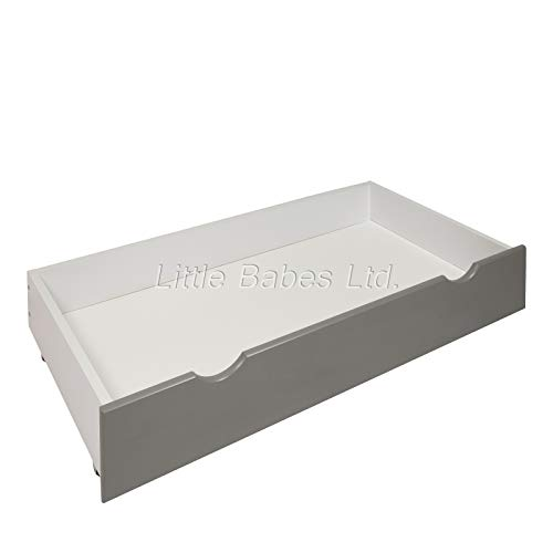 New Grey Under Bed Cot Drawer / Small Drawer Ideal for Mini Cot Space Saver Cot / Mini Under Bed Drawer for Baby Small Cot / Grey Front Of The Draw