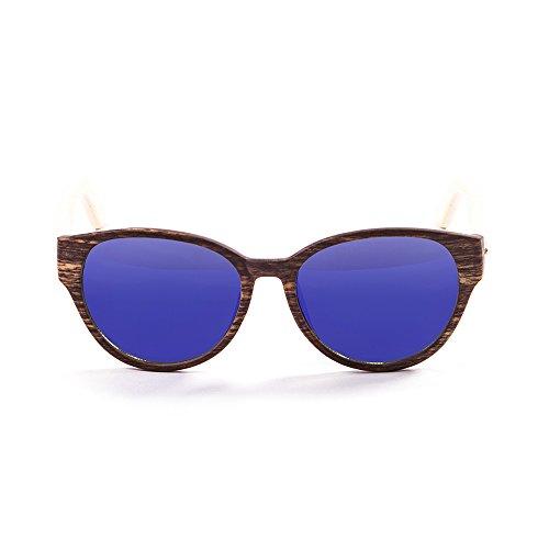 Ocean Sunglasses - cool - lunettes de soleil en Bambou - Monture : Bambou - Verres : Revo Bleu (51001.2)