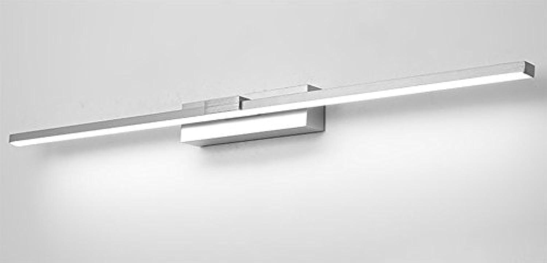 Aglia UK Badezimmer-Spiegel-vordere Lichter geführtes wasserdichtes Nebel-dreifarbiges helles Aluminium-Spiegel-Lichter ( Farbe   Silber-12w50cm )