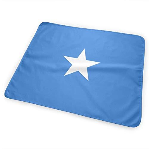 Somalië Vlag Veranderende Pad Waterdicht Zachte Grote Baby Veranderende Mat om Luier Matrasbeschermer Cover voor Jongen en Meisje Pasgeboren (25.5â€x31.5â€)